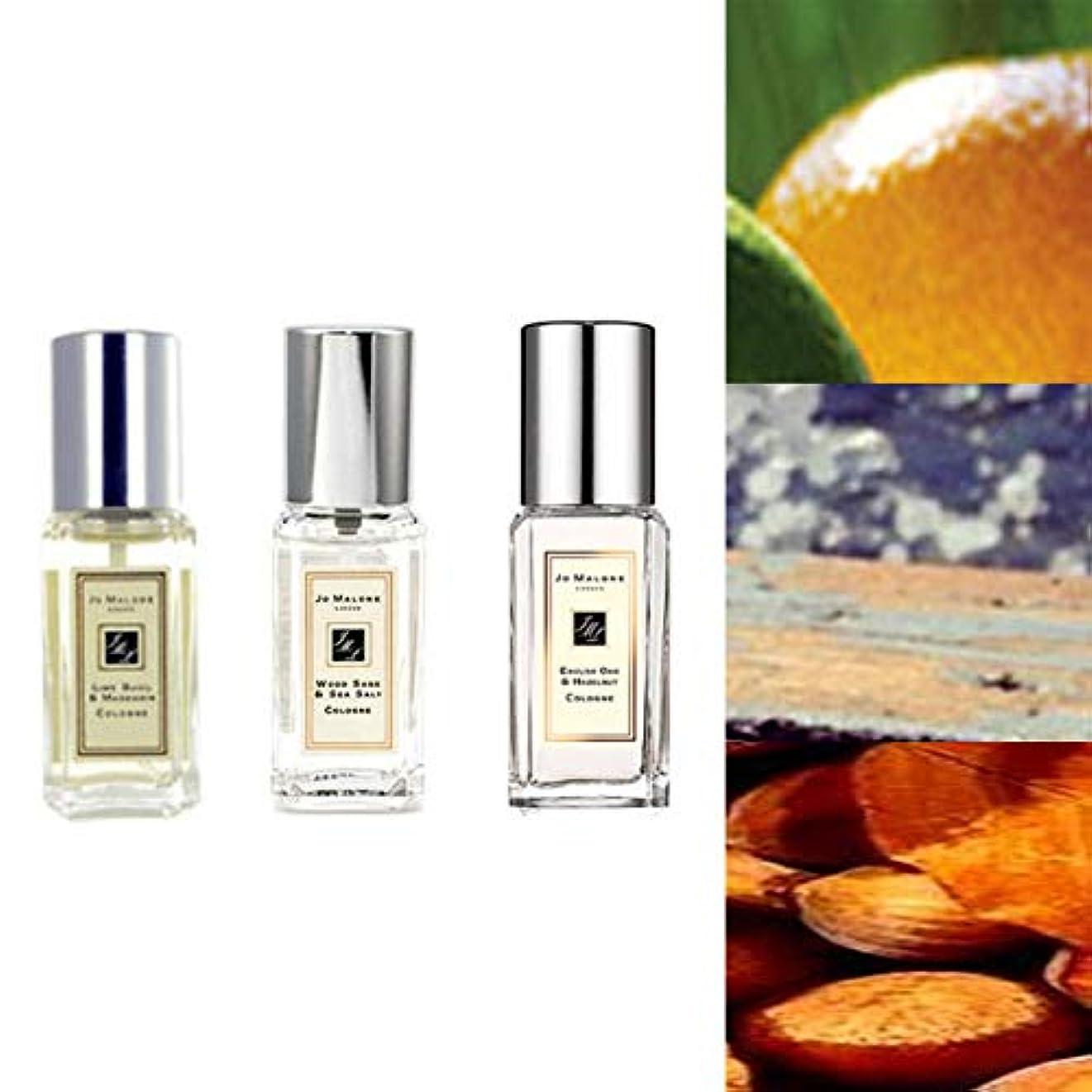 メッセージ海里発症Jo Malone London (ジョーマローン) Deluxe Cologne 9ml 3set : lime basil & mandarin + wood sage & sea salt + english oak & hazelnut [並行輸入品] [海外直送品] 。