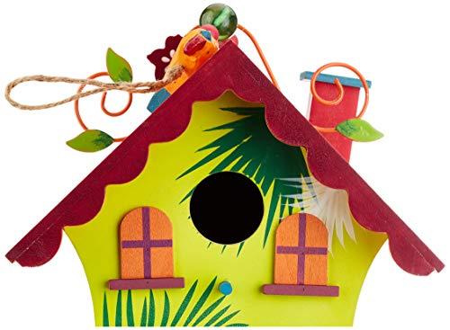 Small Foot by Legler Vogelhaus Hawaii mit süßen Verzierungen im paradiesischen Design, gemütliches Zuhause für alle Singvögel im Winter, mit kleiner Öffnung und schwenkbarem Verschluss, wunderschöne Gartendekoration zum Aufhängen - 4