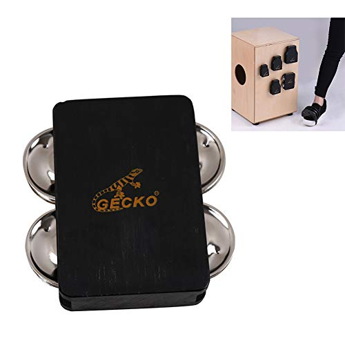 DishyKooker Gecko GK04-TAP Cajon Box Drum Bell Zubehör 4-Glocken Jingle Castanet für Hand Percussion Instruments