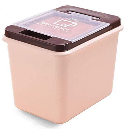 Recipiente de arroz 15 kg Recipientes de plástico para Almacenamiento de Alimentos Dispensador Multifuncional de Granos sellados para Productos Secos, harina de Granos, Alimentos p