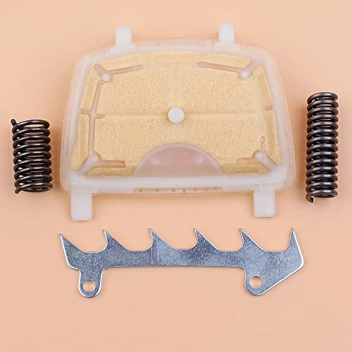 Filtro de aire de resorte amortiguador Kit de perro de tala apto para STIHL MS171 MS181 MS211 MS 171181211 Repuestos de motosierra de gasolina 1139120 1602 Ideal