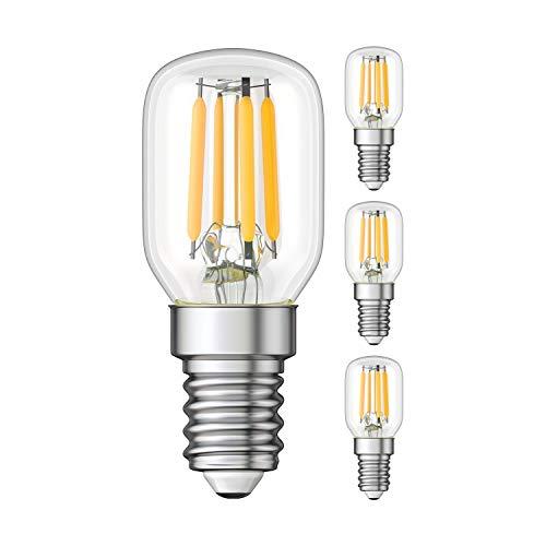 ledscom.de E14 LED Kühlschrank-Lampe klar T25 warmweiß 2700K 2W = 26W 250lm, 4 Stk.
