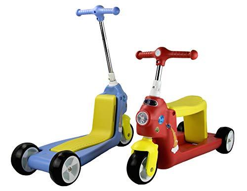 Airel Monopattino 2 in 1 | Monopattino Regolabile | Scooter 3 Ruote 2 in 1 | Monopattino Bici Bambino