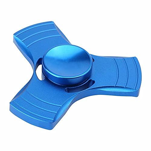 Patches DIY Aluminum Metal Tri Fidget Spinner Ball Desk Toy Stuffer Focus USA Stock Blue