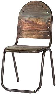 Indhouse - Silla decoración Vintage de diseño Loft y Estilo Industrial Hierro y Madera Gary