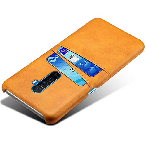 HualuBro Handyhülle für Oppo Reno Ace/Realme X2 Pro Hülle Leder, Ultra Slim Stoßfest Schutzhülle Bumper Hülle Cover Lederhülle Backcover für Oppo Reno Ace/Realme X2 Pro Tasche (Orange)