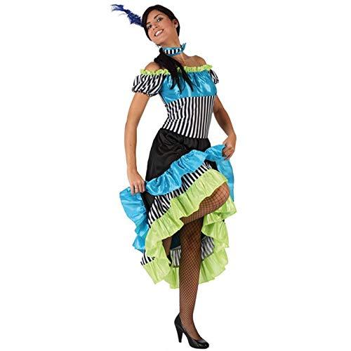 LBA Disfraz de Cabaretera. Talla única (M/L) de Mujer. Incluye: Vestido y Cuello.