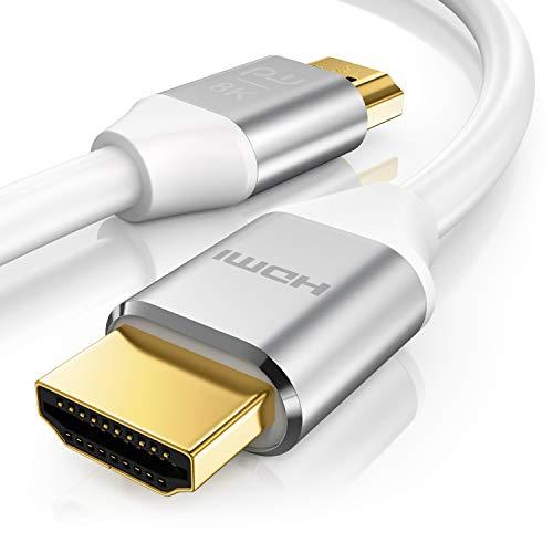 Primewire - Cable HDMI 2.1 8k de 2m - 8K a 120Hz con DSC - 3D – 7680 x 4320 - UHD II - Ethernet de Alta Velocidad - HDTV - eARC - Velocidad de Actualización Variable - Dolby Vision - 2 Metros