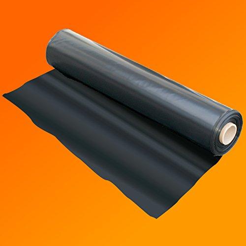QVS Shop 2M X 9M Extra Thick Black Heavy Duty Polythene Sheeting 250Mu / 1000G