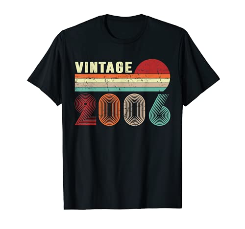 Vintage 2006 Funny 15 Years Old Boys and Girls 15th Birthday T-Sh