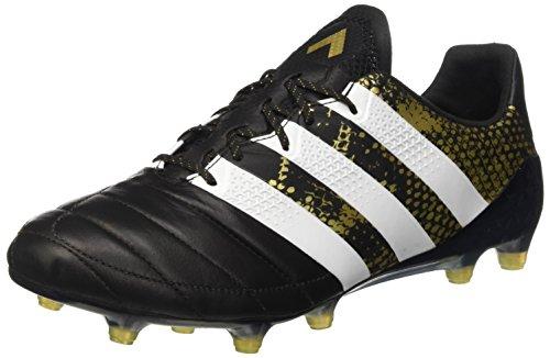 adidas Herren Ace 16.1 FG Leather Fußballschuhe, Schwarz (Cblack/ Ftwwht/ Goldmt), 40 2/3 EU