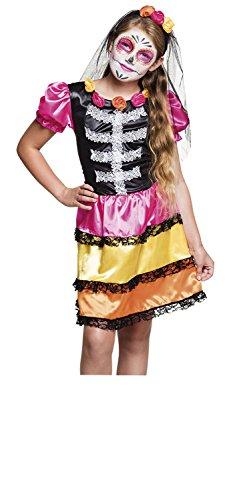 Costume bambina Nina Calavera Dia de los Muertos (7-9 anni)