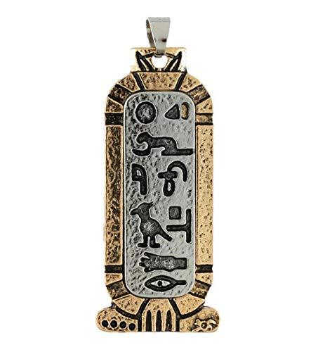 Antik Egypt Ägyptischer Stelenanhänger von 4 cm mit Hieroglyphen