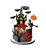 Set of 22 Halloween Cake Topper Cupcake topper Haunted House Cake...