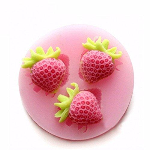 Bureze Silicon Strawberry Cake Fondant Moule Creative Moule à gâteau Moule à Glace Ustensiles de Cuisine Multifonction