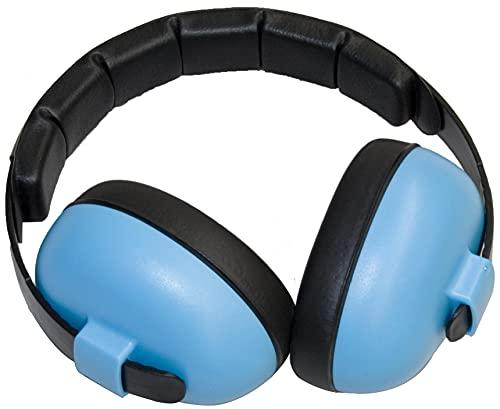 BabyBanz GBB008 Baby-Gehörschutz, 0-3 Jahre, mit extra weichem Kopfbügel, Himmel Blau