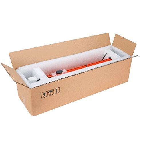 Propac Z-BOX1002525 lange doos, twee golven Avana, 100 x 25 x 35 cm, Havana, 10