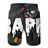 Dolores Marguerite Bape White Mens Swim Trunks with Pockets Quick...