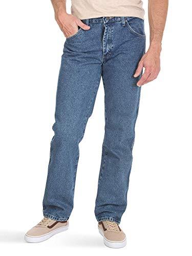 Wrangler Authentics Men's Classic 5-Pocket Regular Fit Cotton Jean, Stonewash Dark, 34W x 32L