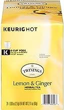 Twinings of London Lemon & Ginger Herbal Tea for Keurig, 24 Count