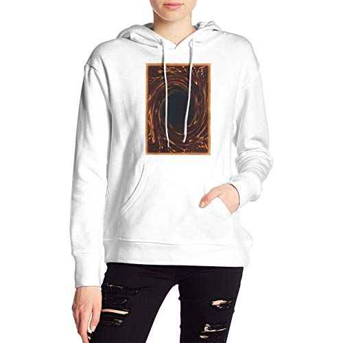 Vacant Cute Womencustom Duel Monsters Cards with Hood Bag Fashion Sweatshirts White Large