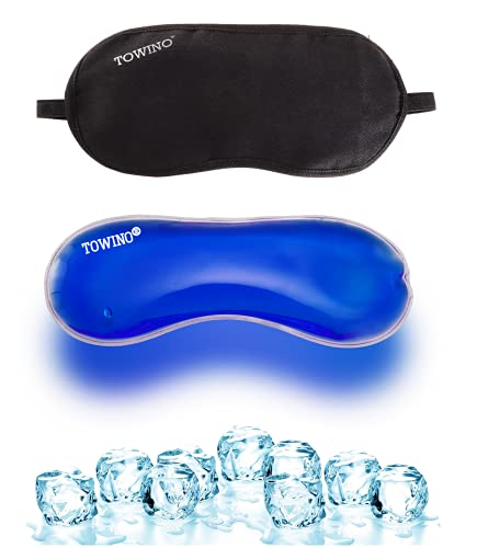 TOWINO® Cooling Gel Relaxing Eye Mask for Dark Circles, Dry Eyes, Cooling Eyes, Pain Relief, Redness, Eye Patches, Sleeping Cool Pad Suitable for All Family Members  Sleeping Eye Cover (Made In India)