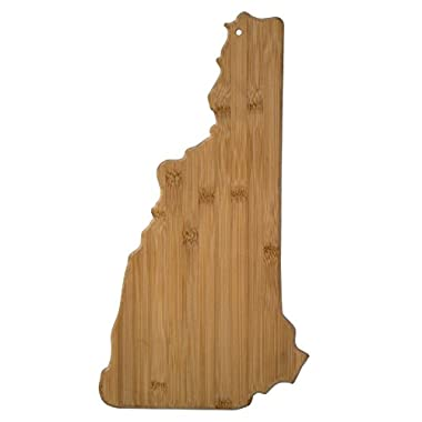 Totally Bamboo New Hampshire State Shaped Bamboo Serving and Cutting Board