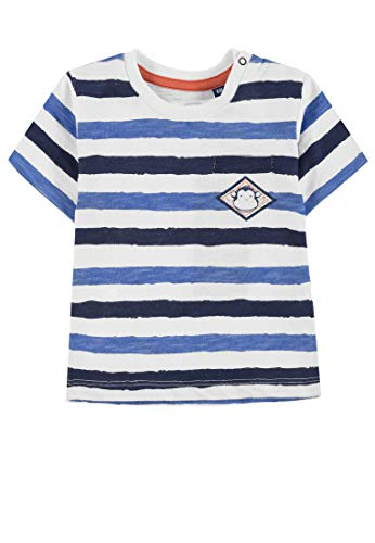 TOM TAILOR Kids T- Shirt Striped, Multicolore (Printed Stripe|Multicolored 0009), 95 (Taille Fabricant: 80) Bébé garçon