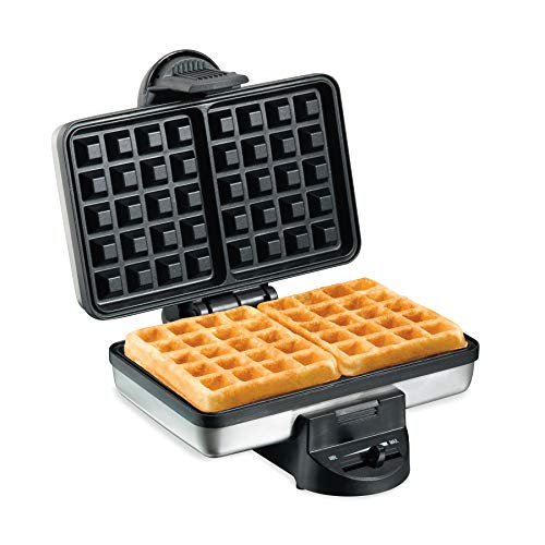 Hamilton Beach 2-Slice Non-Stick Belgian Waffle Maker with...