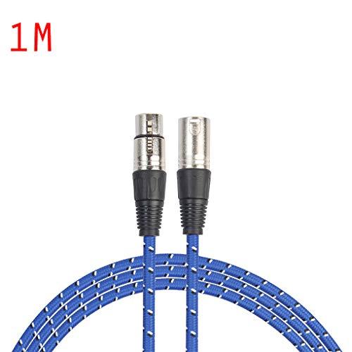 Floridivy REXLIS 1/1.8/3/5/10/15/20M 3pin XLR Mannelijke naar Vrouwelijke Audio Kabel XLR Microfoon Verlengsnoer Voor Mic Mixer Versterker