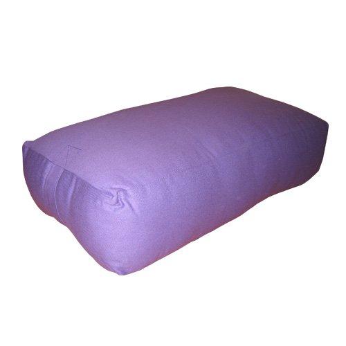 Cojín de yoga con funda en tejido de lona amovible, apr. 61 x 33 x 18 cm, violeta