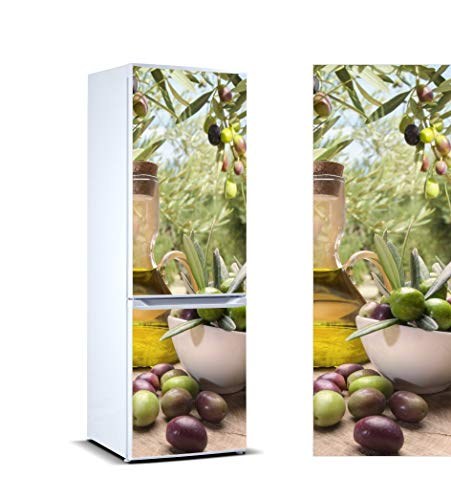 Oedim Vinilo para Frigorífico Taza Aceitunas 185x60cm | Adhesivo Resistente y Económico | Pegatina Adhesiva Decorativa de Diseño Elegante