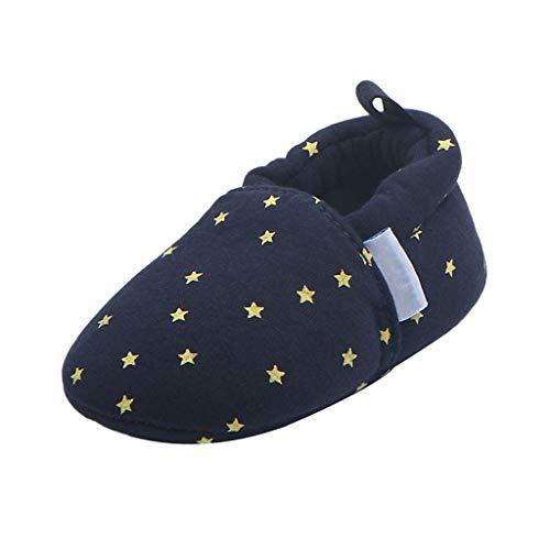 Zapatos de Bebé Zapatillas de Cuna Suave Juegos de Construcción Accesorio Dormitario - Estrella - 12cm, como se describe