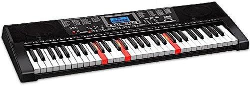 KYOKIM Multi-Funktions-Erwachsenen-Kinder-Tastatur 61-Tasten-Klaviertastatur Mit Mikrofon Klavierst er Netzkabel Kinderunterricht Professionellen Klavier Schwarz