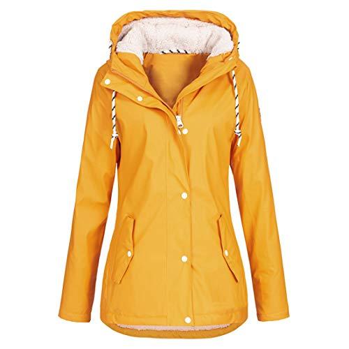 Damen Hoodie Langarm Sweatshirt Einfarbig Fleece Patchwork Reißverschluss Taschen Kordelzug Damen Bikerjacke, Herbst Winter Sport Casual Warm Wander Cardigan Mantel XXL
