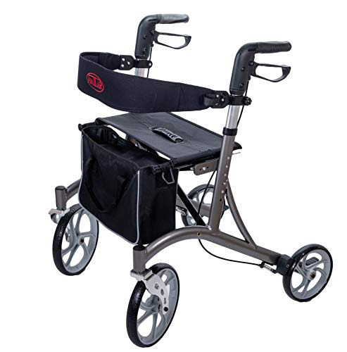Rollator Antar AT51037 mit Einkaufstasche und Rückengurt