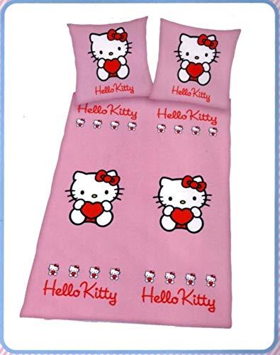 Juego de funda nórdica Sanrio Hello Kitty - 140 x 200 cm + funda de almohada - Edredón doble