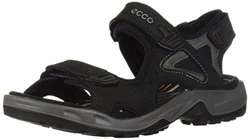 ECCO Herren OFFROAD Flat Sandal, BLACK/DARK SHADOW, 47.5 EU