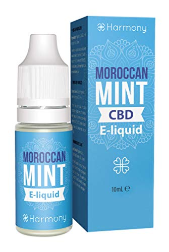 Harmony CBD E-Liquid (über 99{5789111d1eb4dbfc218d6817cc4cad7c5e122632d8b8f3b2f5cb68ead2bfc485} Reinheit) - Moroccan Mint - 600mg CBD in 10 ml - nikotinfrei