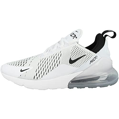 Nike Air Max 270 Womens Casual Running Shoe Ah6789-100 Size 6 White/Black/White