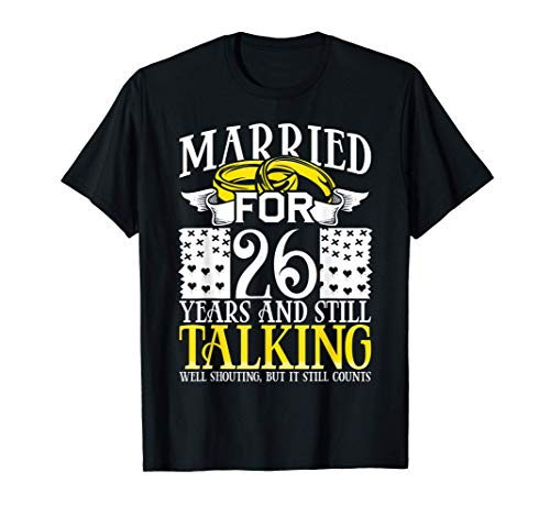 26th Wedding Anniversary Gifts for Wife Her Marriage Gift Camiseta
