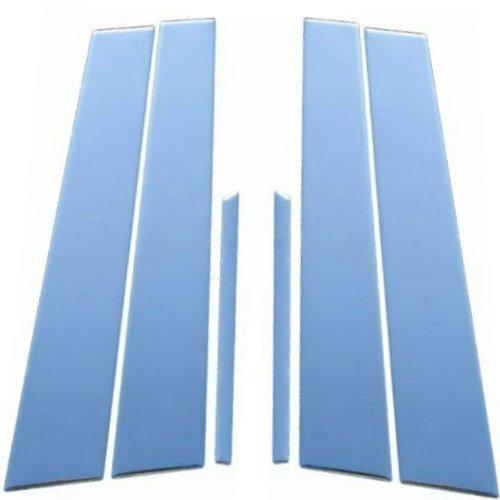 Fits Cadillac Fleetwood 1993-1996 Stainless Steel Chrome Pillar Posts Trim 6PCS