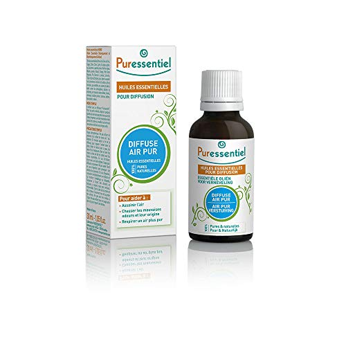 Puressentiel - Sanitizer - විසරණය සඳහා අත්යවශ්ය තෙල් - පිරිසිදු වාතය විසරණය - 100% පිරිසිදු හා ස්වාභාවික - වාතය පිරිසිදු කිරීමට සහ නරක සුවඳ ඉවත් කිරීමට උපකාරී වේ - 30 ml