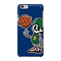 [bodenbaum] iPhone X ハードケース Apple アップル アイフォン テン docomo au SoftBank SIMフリー スマホケース バスケットボール ドクロ スカル hard-g006 (C.ブルー)