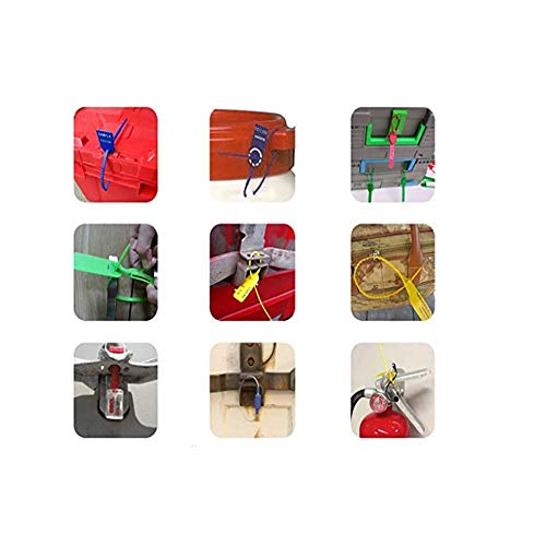 Security Seal Pull Tight Plastic Tags, Anti Tamper Zip Ties with Numbered, Pack of 100 Fire Extinguisher Seals