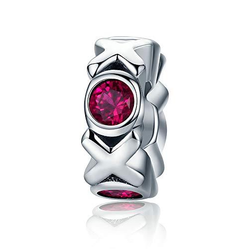 Knuffel & Kus 925 Sterling Zilver Kus Kus & Knuffel Enorme Spacer Roze Kristallen Kralen passen Vrouwen Bedel Armbanden XOXO Sieraden