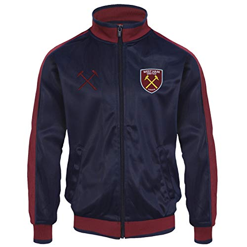 West Ham United Fc Official Soccer Gift Mens Retro Track Top Jacket Navy XXL
