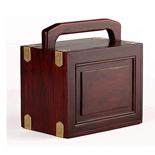 WYBFZTT-188 Caja de joyería-sólido Caoba joyería joyería Decorativa Caja de sándalo Antiguo de Tres Capas