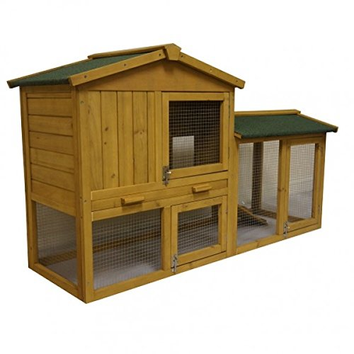 4.82 FT LARGE NEW OUTDOOR WOODEN RABBIT HUTCH, CAGE HOUSE HUTCHES FERRRET GUINEA, BUNNY - NO DELIVERY TO N. IRELAND, C. ISLANDS - IV, KA, KW, PA, PH, ZE, HS, IM, TR - POST CODES AREAS