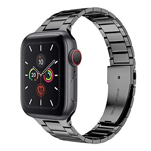 Correa de Metal para Apple Watch Bandas de Repuesto Ajustables de Acero Inoxidable Correa iWatch de Acero Inoxidable Compatible con Apple Watch Series 6 SE 5 4 3 2 1,D,38/40mm